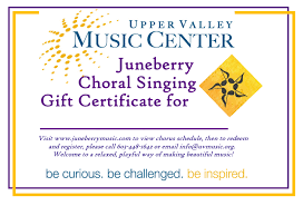 gift certificates berry uvmc give the gift of song one session of 16 vocal exploration classes 160 one session of 15 choral skills classes 150 one session of berry community