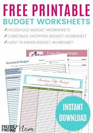 Holiday Budget Spreadsheet Household Budget Template For Resume
