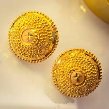 Gold New Design Tops Circle Designer Gold Tops