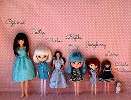 Blythe Doll Size Chart Doll Size Comparision Dolls Blythe Dolls Doll Crafts