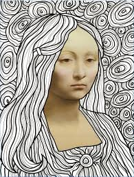 Mona Lisa Coloring Page Marvelous Frizz 1217 Halle By Frizz Das