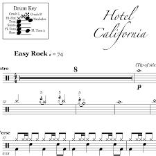 Guitar lead sheet (1) ukulele ensemble (1). Hotel California Eagles Drum Sheet Music Onlinedrummer Com