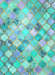 Cool Pattern Backgrounds Classy Cool Jade Icy Mint Decorative Moroccan Tile Pattern Art Print By