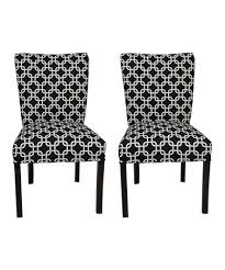 take a look at this black white chain chair set of two by s o l e on zulily today