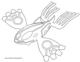 Pokemon Kyogre Coloring Page Coloring Home