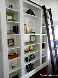 ikea billy bookcase library ladder and bookcases wheels rolling bottom hinge top lift slide place