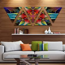 designing girls bedroom furniture fractal. Designart \u0027Colorful Fractal Stained Glass\u0027 Contemporary Triangle Canvas Art Print - 5 Panels Free Shipping Today Overstock 25622691 Designing Girls Bedroom Furniture