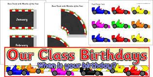 Sparklebox Birthday Charts Race Car Themed Birthday Timeline Set Sb11190 Sparklebox