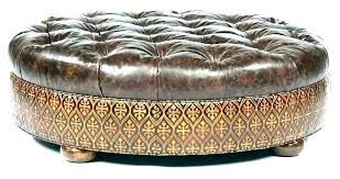 red ottoman coffee table cream leather tufted s round