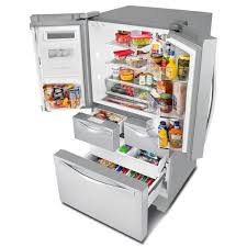 dual ice maker refrigerator. Ft. Double Drawer French Door Refrigerator With Dual Ice Makers Maker