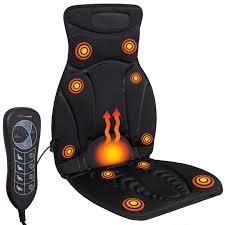 best choice products 5 motor vibration shiatsu massage seat cushion w heat black com