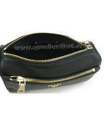 prada black calfskin clucth cosmetic bag 4