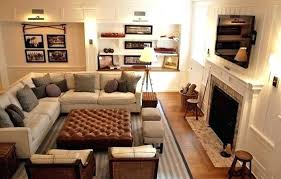 living room arrangements with tv cozy living room with family room layout or basement home comfy
