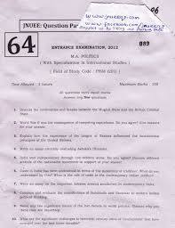 jnu international relations question papers studychacha paper ma politics the specialization in international relations marks 100 time 3 hr