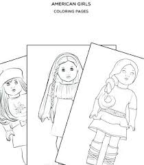 Girl Coloring Pages Kit Doll Free Printable American Girl Coloring