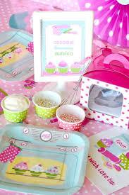Cupcake Baking Birthday Party Printables Supplies Birdspartycom