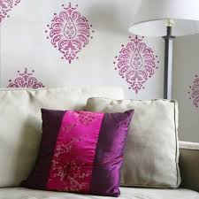 indian designs stenciled on walls with paisley wall art stencils royal design studio  on paisley wall art stencil with paisley stencils bombay paisley motif stencil royal design