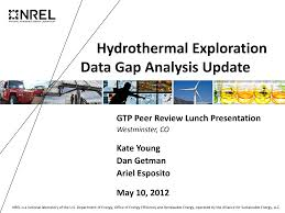 Hydrothermal Exploration Data Gap Analysis Update