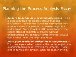 process analysis essay 7 planning the process analysis essay