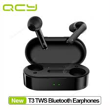 Original QCY T3 <b>TWS Wireless Headphones</b> Bluetooth V5.0 ...