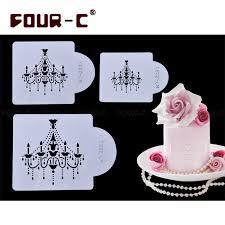 chandelier cake stencil