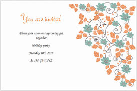 Invitations In Word Template Holiday Invite Templates Holiday Invitation Templates Templates For