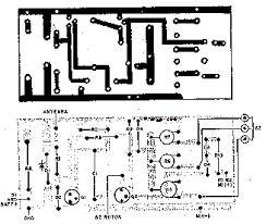 wireless auto tachometer this is the parts placement and printed circuit pattern of the tach