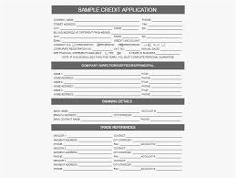 Registration Form Template Free 2018 Personal Credit Application