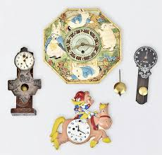 sold four novelty wall clocks