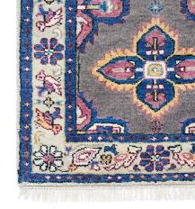 blue and pink antique persian rug
