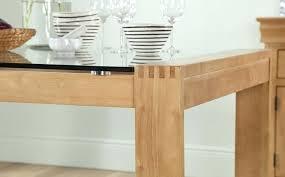 oak and glass table rochelle solid oak glass side table