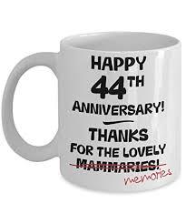 44th wedding anniversary gift mug for her novelty idea funny joke 11oz cup