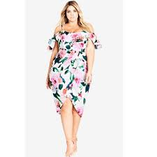 Plus In Love Size Chart Nwt City Chic Love Me Do Dress Plus Size 16 Floral Nwt