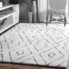 awesome diamond rug at nuloom handmade plush white grey lattice 7 6 x 9