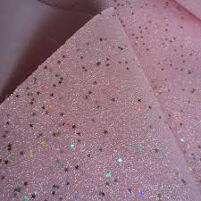 30 Cm X 138 Cm Fijne Glitter Stof Baby Roze Met Gouden Sterren Voor