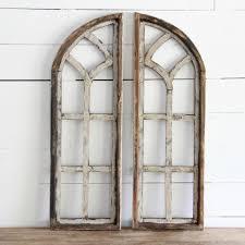 vintage window frames arched wooden window frame set of 2 antique farmhouse
