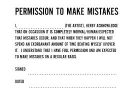 permission to make mistakes quotes