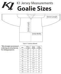 K1 Hockey Jersey Size Chart Jerseys