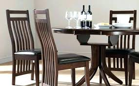 black wooden dining table dark wood round set room chairs for