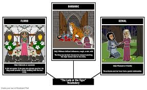 lady or the tiger vocabulary storyboard by rebeccaray