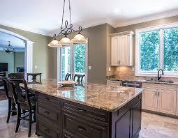 kitchen island in beautiful granite countertop