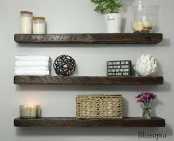 Salvaged Wood Floating Shelves