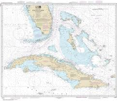 Noaa Navigation Charts 11013 Straits Of Florida And Approaches With Cuba Gulf Coast Nautical Chart