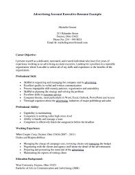 Job Resume Advertising Account Executive Resume Samples Fashion