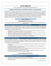 Public Relations Manager Resume Sample 1 Its Personal