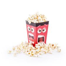 Decorative Popcorn Boxes Fun Movie Face Popcorn Box Pack of 60 Popcorn Boxes 59