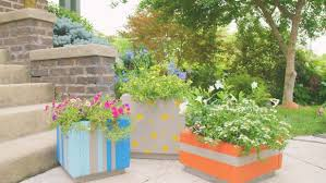 outdoor planter boxes. Make Large Outdoor Planter Boxes From Patio Pavers R