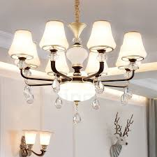 modern contemporary retro luxury crystal pendant lamp chandelier with glass shade