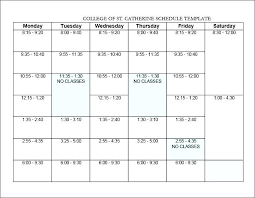 Class Planner Online Agenda Schedule Template Word Hourly Excel Sample Weekly Printable