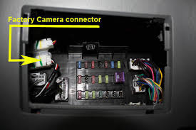 oem camera connection below dash tacoma world locate the oem 4 wire pin connector attached to the upper left of the driver side junction box fuse box optional unplug the connector for access